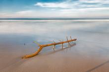 La exposición a largo en la playa