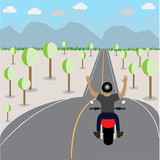 ride motorcycle on highway