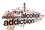 Alcohol addiction word cloud