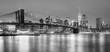 Panoramia of  Brooklyn Bridge and  Manhattan, New York City