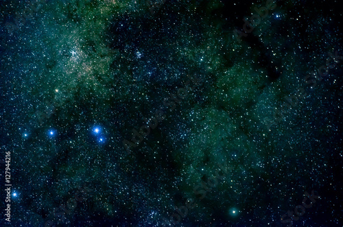 Poster Stars and galaxy space sky night background, Africa
