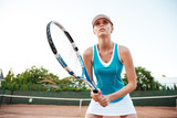 Close up tennis model