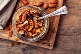 Homemade granola with seeds and nuts