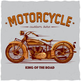 Motorcycle t-shirt label design