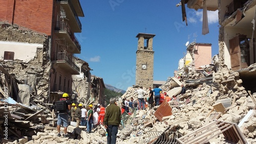Amatrice on 24 Augusto 2016 after the earthquake