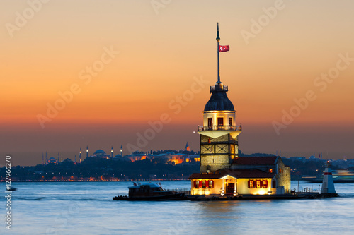 Maiden's Tower in istanbul, Turkey. Poster