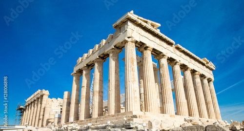 Staande foto Athene Parthenon on the Acropolis in Athens, Greece