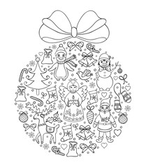 illustration of christmas ball