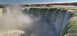 Closeup panorama Horseshoe Falls in Niagara Falls, Ontario, Canada