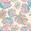 Cotton fabric vector leaves for wallpaper, interior, uholstery. seamless design.
