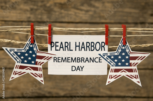 Poster Pearl Harbor Remembrance Day card or background.