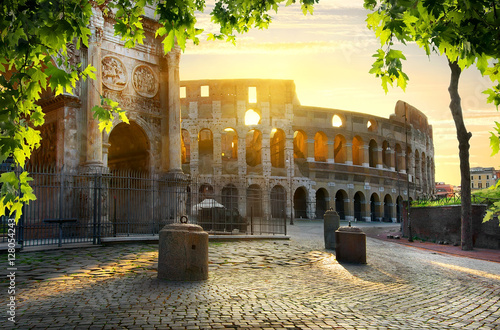 Colosseum and Arch Poster