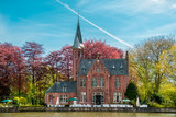 Minnewater castle in Bruges