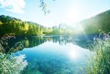 Fototapety lake in forest, Croatia, Plitvice