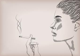 Woman female girl lady person smoke smoking cigarette tobacco