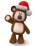 3d illustration brown bear toy