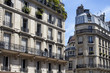 View of buildings in France showing French architectural style in Paris. Captured in 2nd arrondissement.