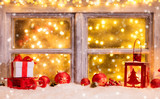 Atmospheric Christmas window sill with decoration