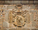 Heraldic shield of an ecclesiastical dignitary, Cáceres, Spain