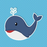 cute whale baby icon vector illustration design
