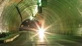 Night Tunnel Traffic Timelapse Zoom