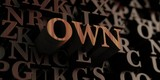 Own - Wooden 3D rendered letters/message.  Can be used for an online banner ad or a print postcard.