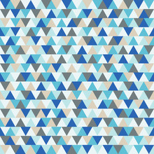 Abstract triangle vector background, blue and grey geometric winter holiday pattern
