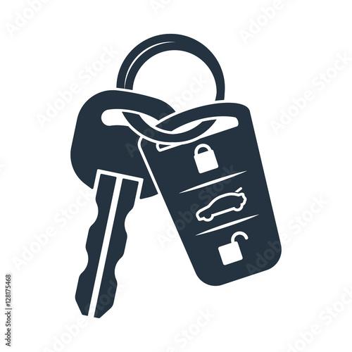 ikona klucz blokady samochodu na białym tle na białym tle, auto serwis, ponownie