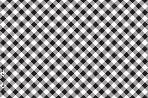 Black white checkerboard check diagonal seamless background - 128202080
