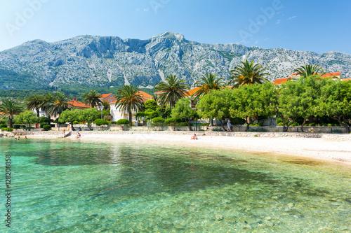 Foto op Canvas Mediterraans Europa beach in Orebic on Peljesac peninsula, Dalmatia, Croatia