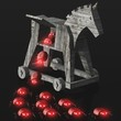 Trojanisches Pferd - Angriff von Schädlingen