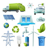 Ecology Symbols Icon Set