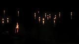 Floating candle on water, river Bug, Kupala