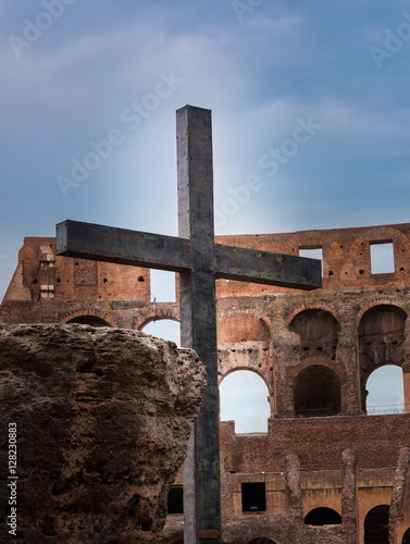 Standing Cross at Colosseum