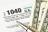 Tax form business financial concept