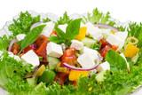 Greek salad closeup
