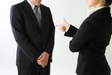 説教されるビジネスマン