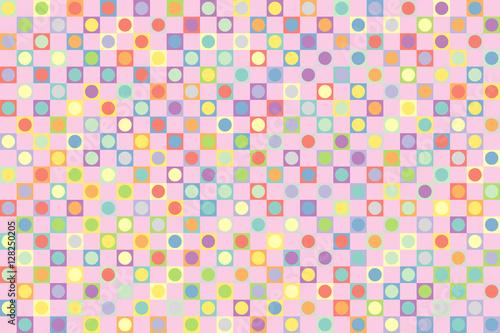 Fototapeta Geometric background of Squares and Circles.