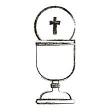 Ikonen kopp. Religion gud ber tro och tro tema. Isolerad utformning. vektor