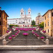 Quadro Spanish steps with azaleas at sunrise, Rome