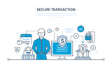 Secure transactions, payments, security guarantee of financial deposits and information.
