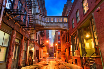 Tribeca Alley in New York City.