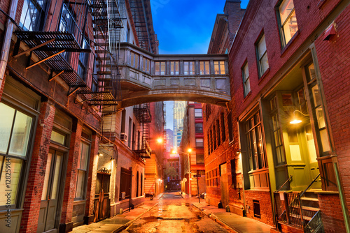 Tribeca Alley in New York City.