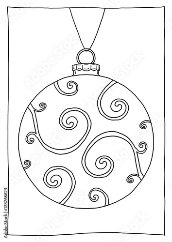 Gamesageddon Ausmalbild Christbaumkugel Ornamente Lizenzfreie