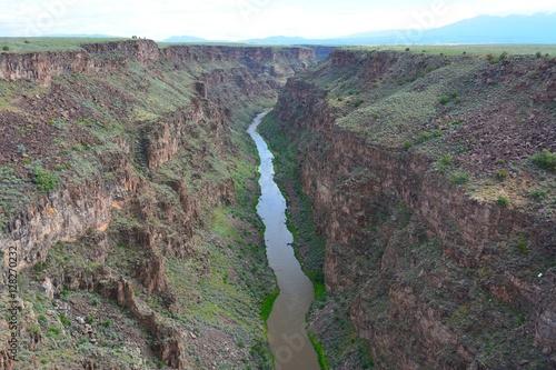Poster Rio Grande Gorge in New Mexico, USA.