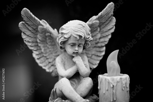 angel and candle - 128271692