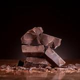 Pieces dark chocolate - 128284238