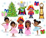 Set Cartoon Christmas Characters For Fairy Tale Nutcracker  Illustration    Wall Sticker
