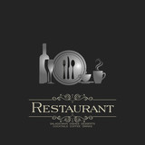 Cafe Icons Set - Isolated On Gray Background - Vector Illustration, Graphic Design, Editable For Your Design