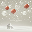 Vector Illustration of a Christmas Holiday Design with Baubles and Gift Boxes